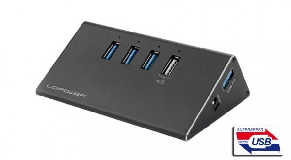 HUB LC Power LC-HUB-ALU-2B-4 USB3.0 Aluminium