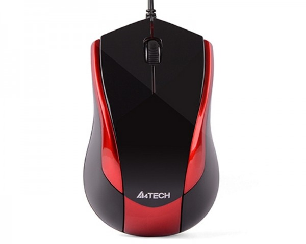 A4 TECH N-400-2 V-Track Optical USB crno-crveni miš