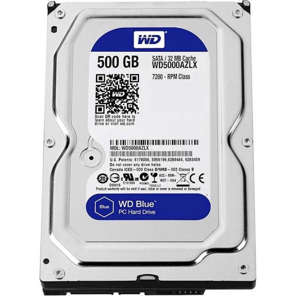 HDD WD 500GB 3.5'' WD5000AZLX Rpm 7200 Blue Bulk