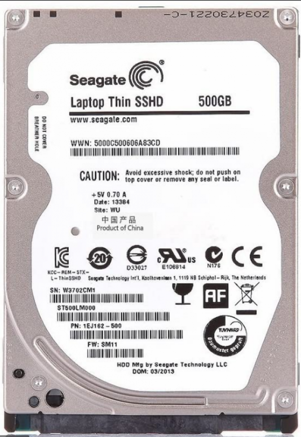 HDD 2.5'' Seagate Barracuda 500GB ST500LM000 refubrished