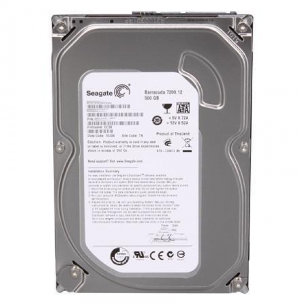 HDD Seagate 500GB 16M Barracuda ST3500418AS SATA3