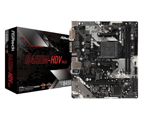 MB AsRock AMD AM4 B450M-HDV R4.0