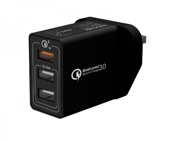 PROMATE Triport-QC punjač triple USB crni