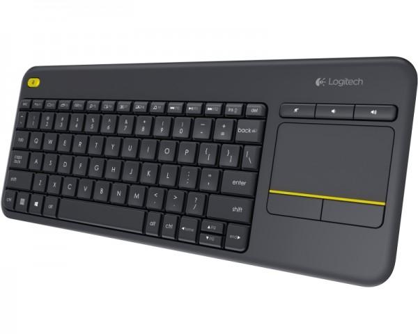 LOGITECH K400 Plus Wireless Touch US crna tastatura