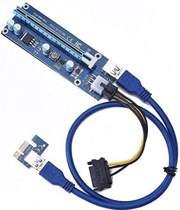 Adapter NoNAME PCIe 1x 16x VER 006C 6-pin