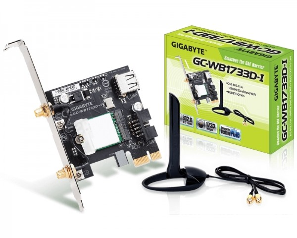 GIGABYTE GC-WB1733D-I rev. 1.0 bluetooth + wireless card