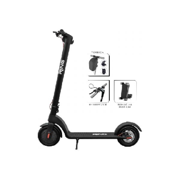 RING Električni trotinet + torbica, retrovizor, nosač za mobilni RX10