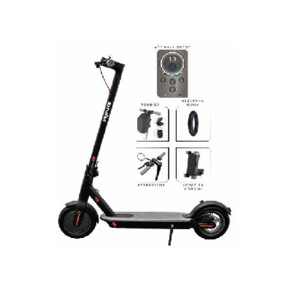 RING Električni trotinet + torbica, retrovizor RX2 Soild