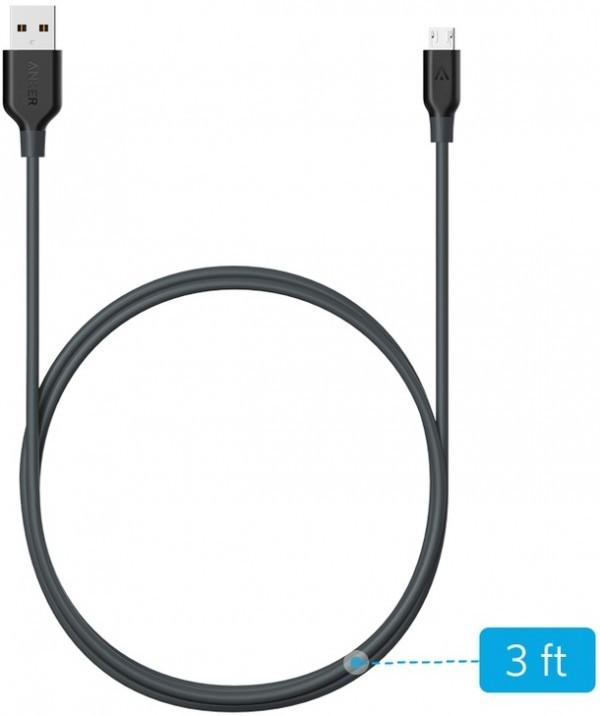 ANKER USB Kabl PL Micro USB (Siva)