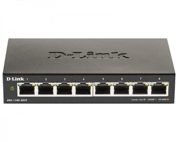 D-LINK DGS-1100-08V2 8port Smart Managed switch