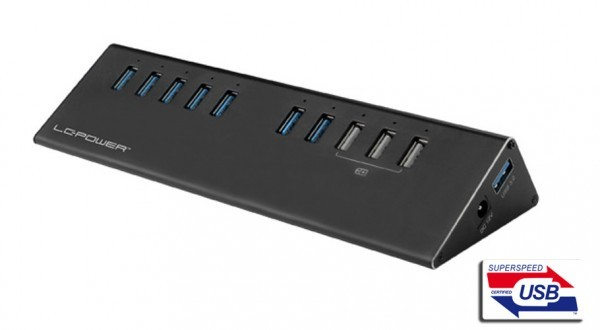 HUB LC Power LC-HUB-ALU-2B-10 USB3.0 Aluminium