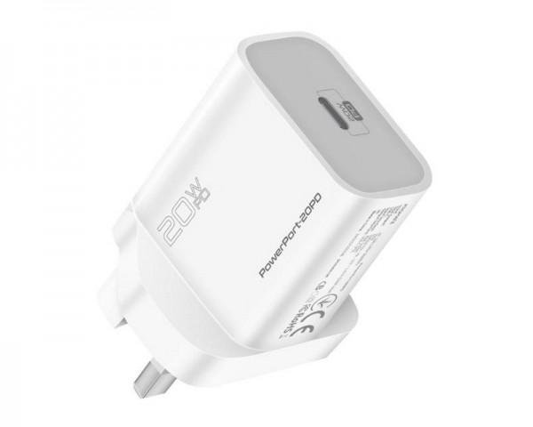 PROMATE PowerPort Zidni punjač USB-C port beli