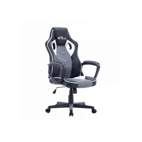 BYTEZONE Gaming stolica Racer (Crno-Siva)