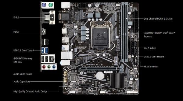 MB s1200 Gigabyte H410M H V3 G10