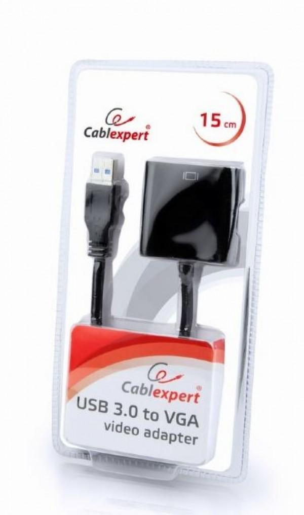 Adapter AB-U3M-VGAF-01 Gembird USB3 to VGA