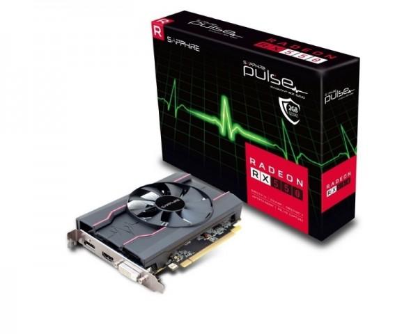 SAPPHIRE AMD Radeon RX 550 2GB 128bit PULSE RX 550 2G D5 (11268-03-20G)