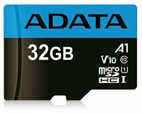 A-DATA UHS-I MicroSDHC 32GB class 10 + adapter AUSDH32GUICL10A1-RA1