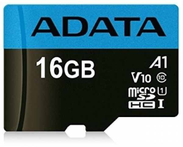 A-DATA UHS-I MicroSDHC 16GB class 10 + adapter AUSDH16GUICL10A1-RA1