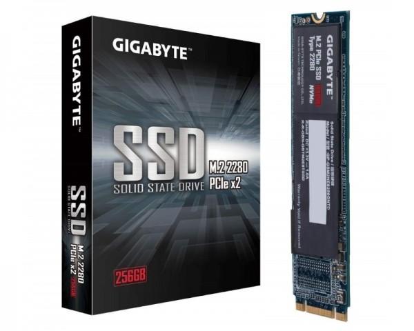 GIGABYTE 256GB M.2 PCIe Gen 3 x2 NVMe GP-GSM2NE8256GNTD SSD