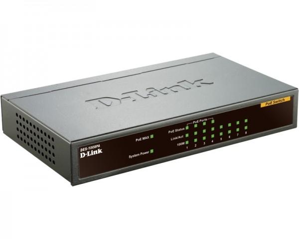 D-LINK DES-1008PA 8port switch