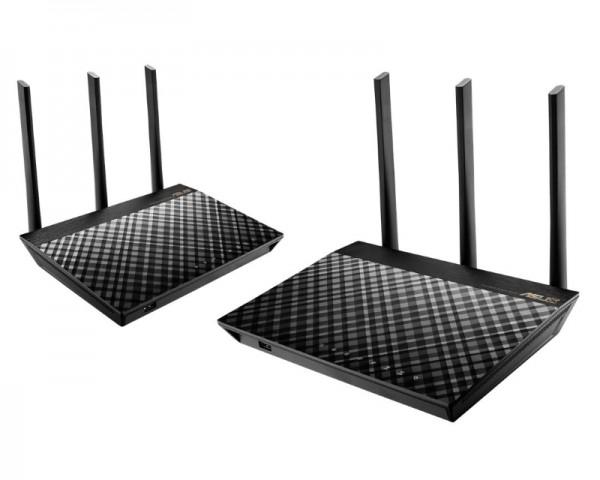 ASUS RT-AC67U Wireless AC1900 Dual Band AiMesh ruter (2 kom)
