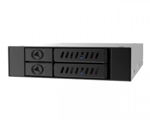 CHIEFTEC CMR-225 2 x 2.5'' SATA crna fioka za hard disk