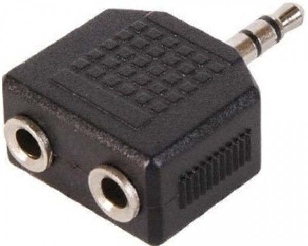 FAST ASIA Adapter audio 3.5mm (M) - 2x3.5mm (F) crni