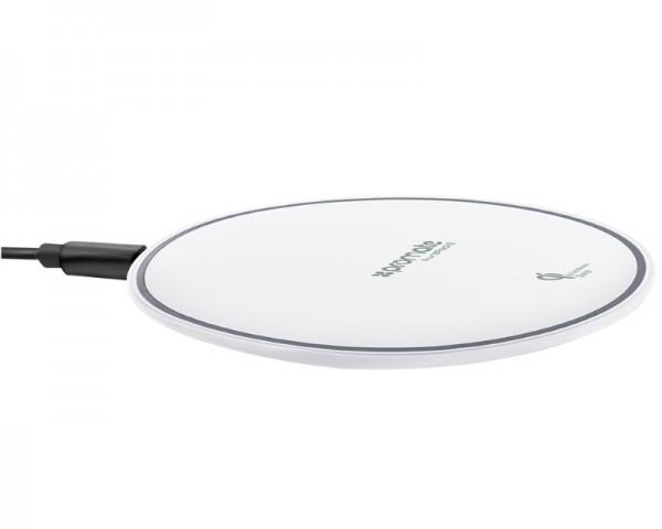 PROMATE AuraPad-3 Ultra-Fast wireless punjač sa Led svetlom beli