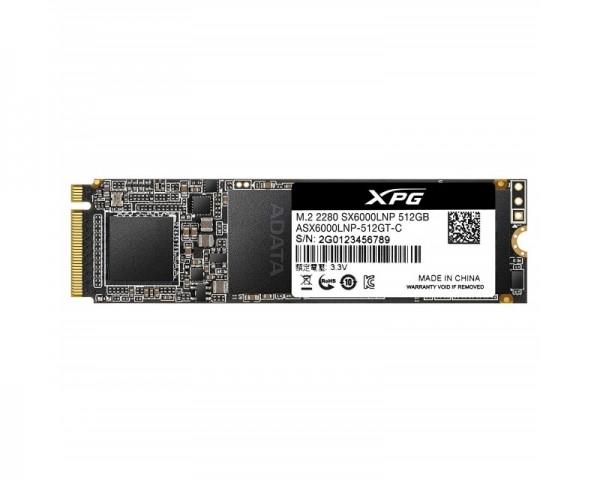 A-DATA 512GB M.2 PCIe Gen 3 x4 NVMe ASX6000LNP-512GT-C SSD