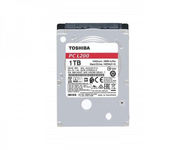 TOSHIBA 1TB 2.5'' SATA III 128MB 5.400rpm HDWL110UZSVA L200 series