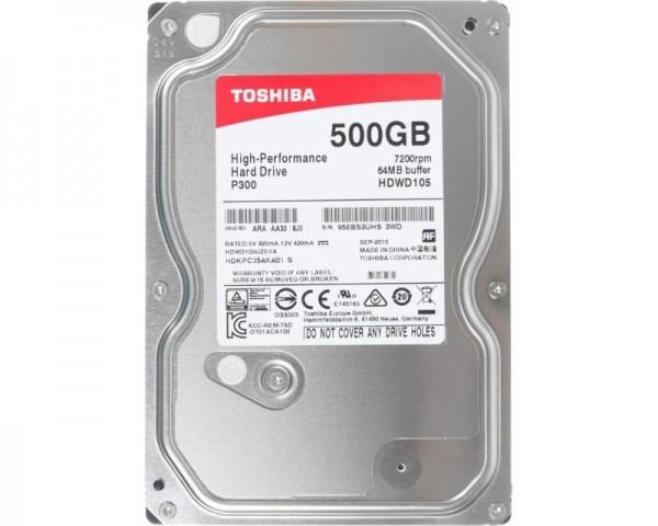 TOSHIBA 500GB 3.5'' SATA III 64MB 7.200rpm HDWD105UZSVA P300 series