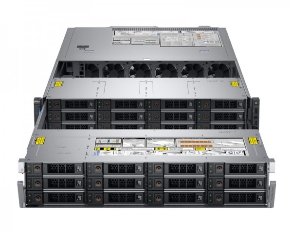 DELL PowerEdge R740XD 1x Xeon Sliver 4110 8C 1x16GB H730P 12x2TB NLSAS 1100W (1+1) 3yr NBD + Sine za Rack