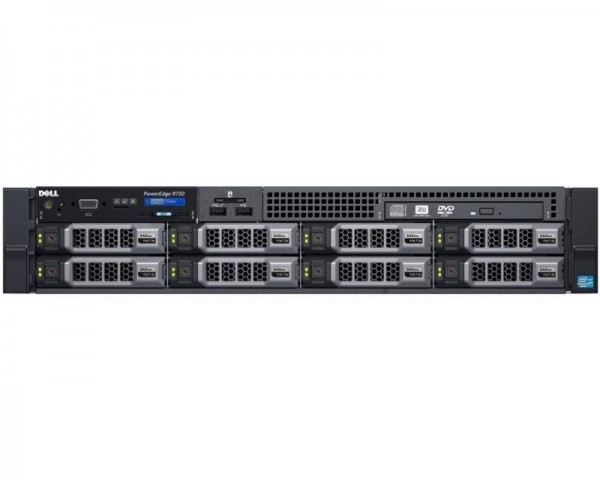 DELL PowerEdge R730 1x Xeon E5-2620 v4 8C 1x16GB H730 300GB SAS DVDRW 750W (1+1) 3yr NBD + Sine za Rack